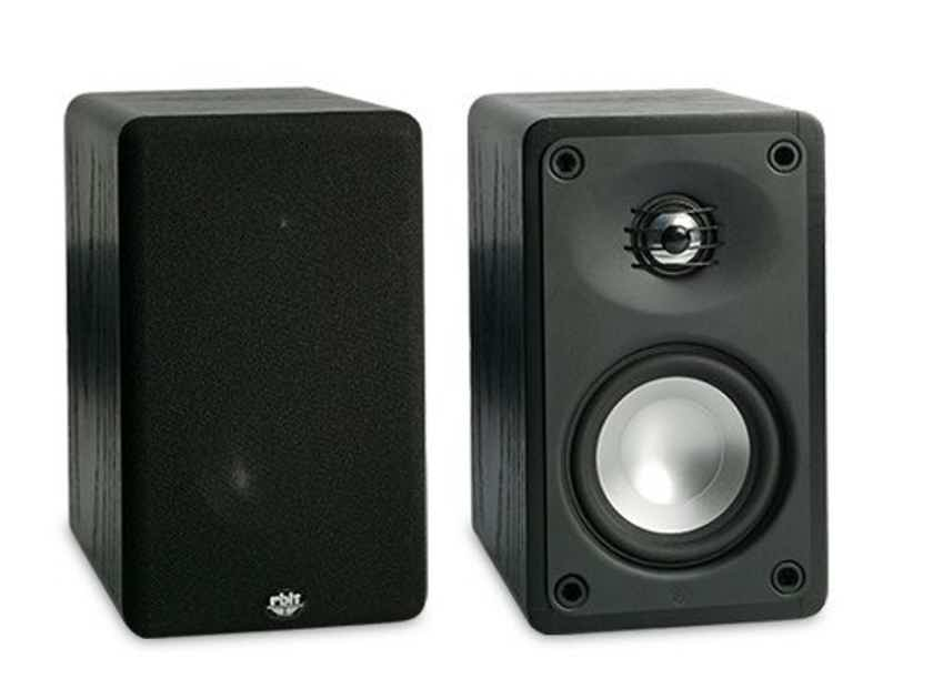 RBH MC-4C Bookshelf Speakers MC4-C; Black Pair (New Old Stock) (13230)
