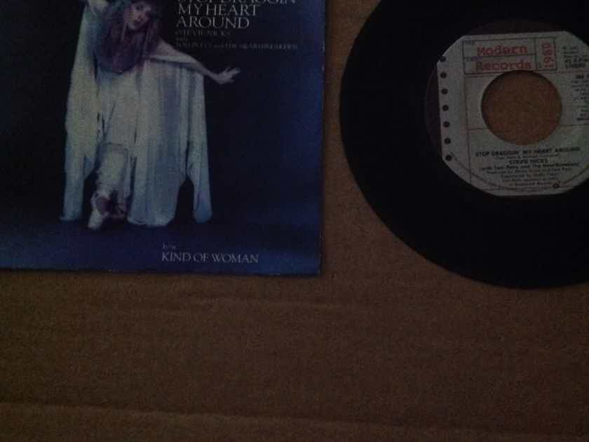 Stevie Nicks With Tom Petty - Stop Draggin' My Heart Around/Kind Woman Modern Records 45 Single With Picture Sleeve Vinyl NM