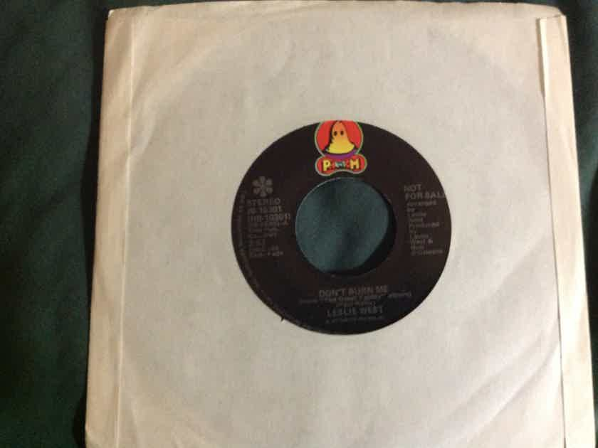Leslie West - Don't Burn Me/E.S.P. Phantom Records Promo 45 Single Vinyl NM