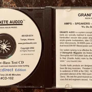 Granite Audio Model #CD-102