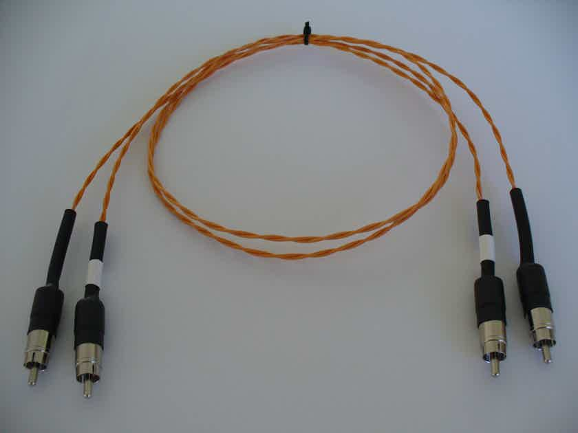 Western Electric 22awg 1m Cloth/Silk Solid Core RCA Interconnects Organic Sounding Reference Quality Cables