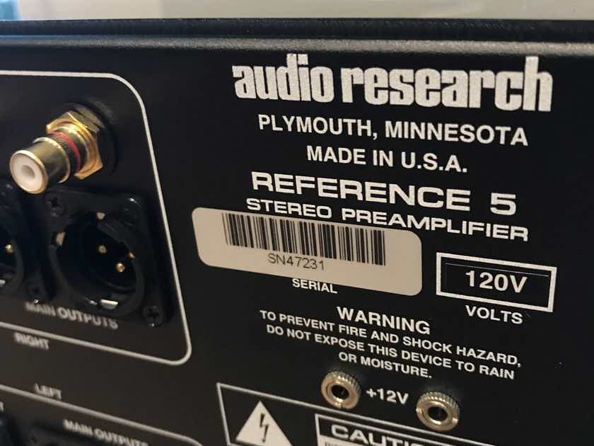 Audio Research Reference 5SE Natural finish, excellent condition.