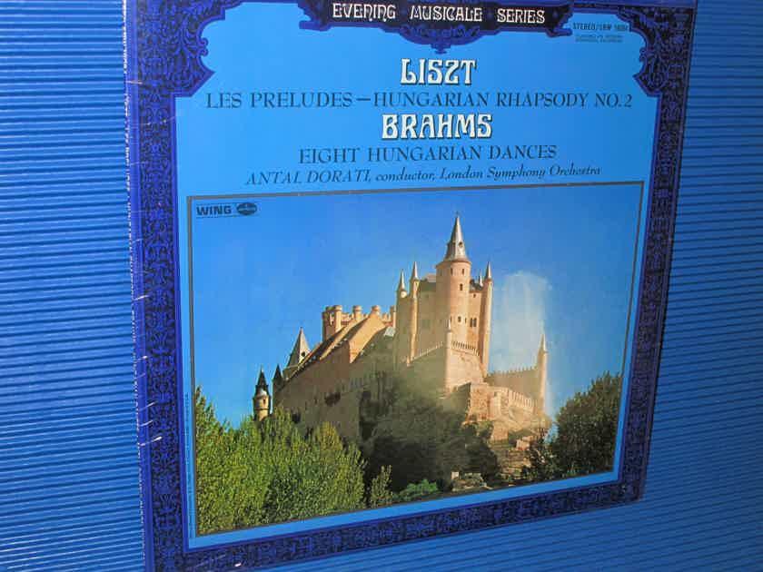"LISZT / BRAHMS / Dorati  - ""Les Preludes & Hungarian Rhapsody #2   / 8 Hungarian Dances"" - Mercury Wing 1968 SEALED!"