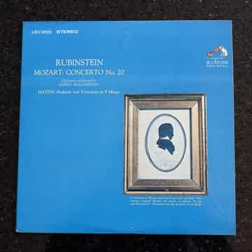 Artur Rubinstein, piano/ Wallenstein, cond. Mozart/piano concerto #20, Haydn/ Andante Var.