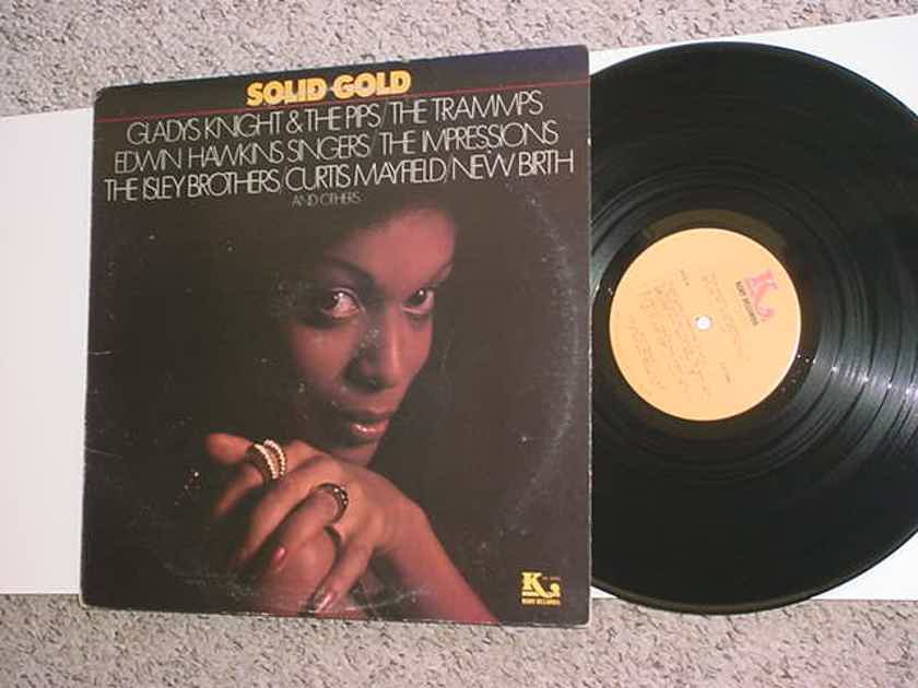Solid Gold lp record - Soul Gladys Knight Trammps Impressions Edwin Hawkins Curtis Mayfield