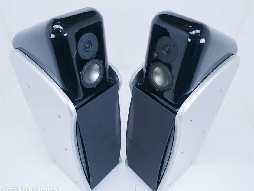 Revel Ultima Studio Floorstanding Speakers Black / Aluminum Pair (16233)