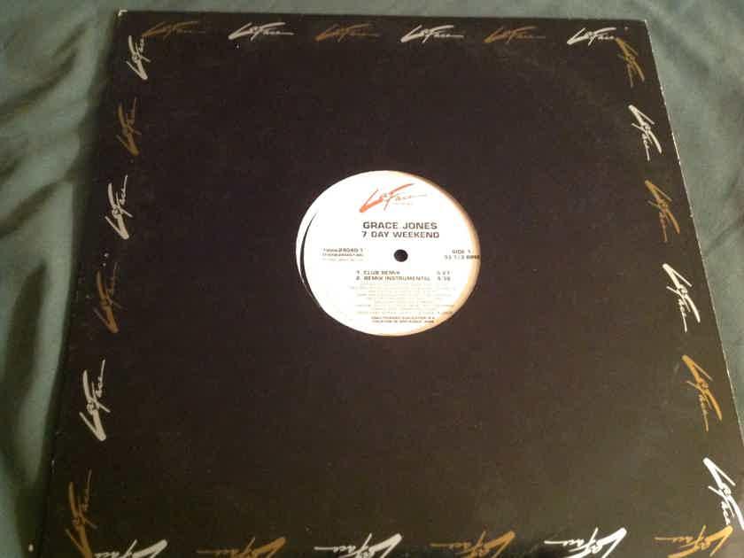 Grace Jones  7 Day Weekend LaFace Records Promo 12 Inch