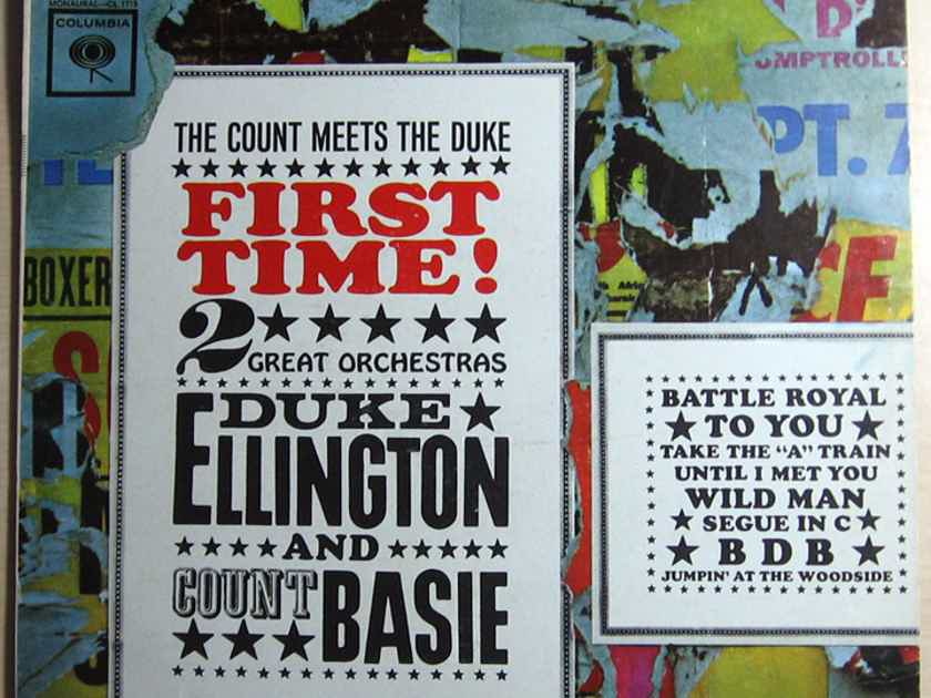 Duke Ellington And Count Basie - First Time!  The Count Meets The Duke  - Reissue Columbia  CS 8515