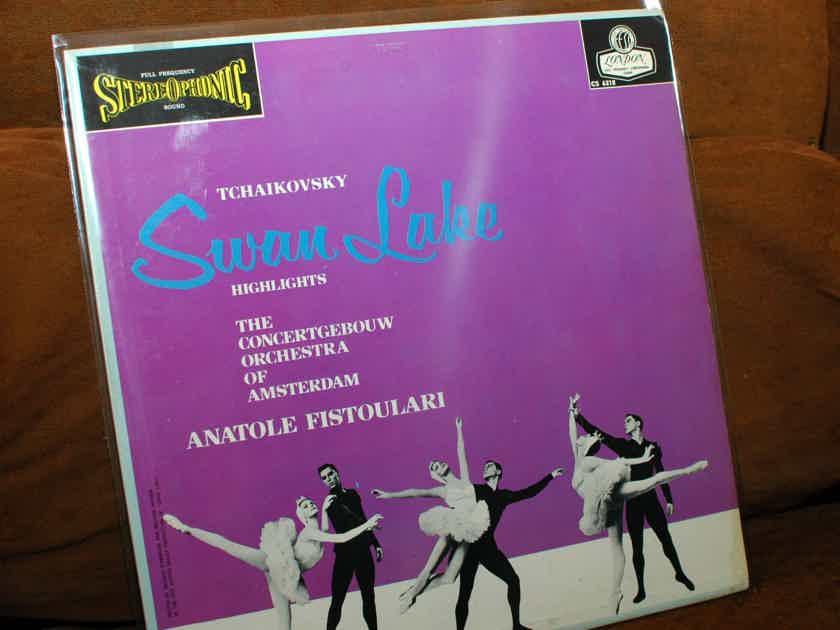 "TCHAIKOVSKY / Fistoulari   - ""Swan Lake Highlights"" -  London 'Blue Back' 1963"