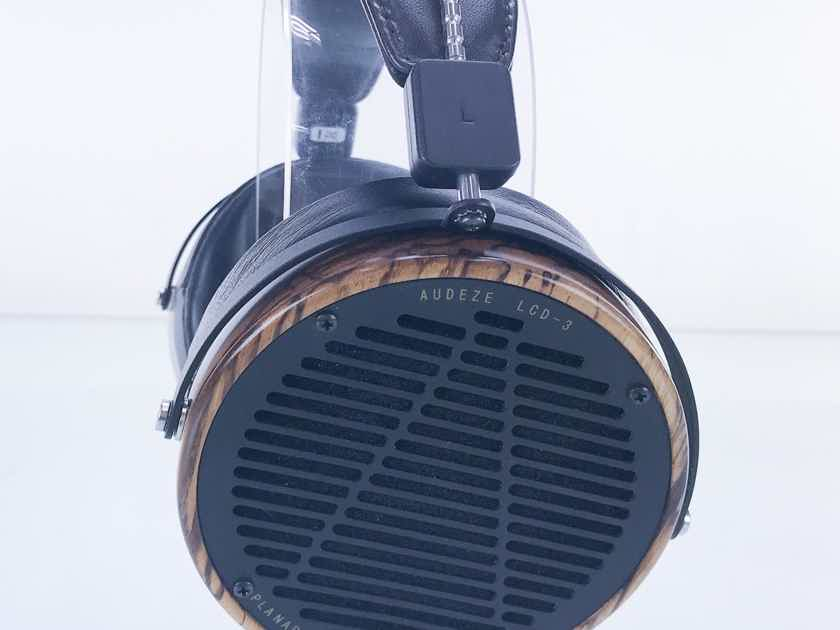 Audeze LCD-3 Open Back Planar Magnetic Headphones; Zebrano; LCD3; Fazor (Refreshed) (18171)