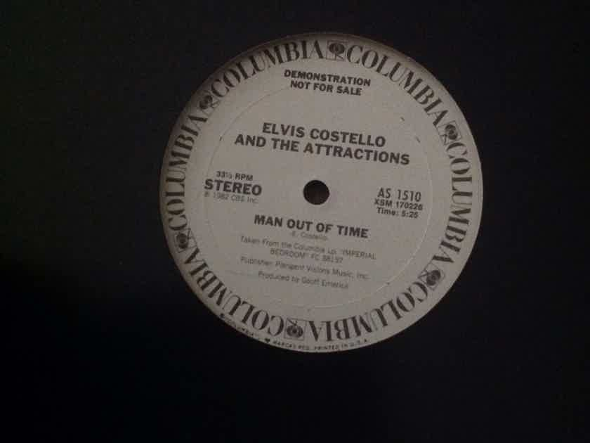 Elvis Costello And The Attractions  - Man Out Of Time/Beyond Belief Promo 12 Inch Single Columbia Records Vinyl NM