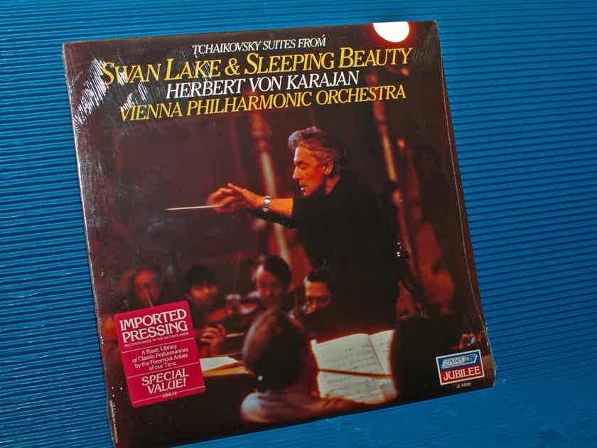 "TCHAIKOVSKY / Von Karajan  - ""Swan Lake & Sleeping Beauty"" -  London 1981 SEALED!"