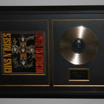 Guns N Roses Appetite for Destruction - band signed, CO...