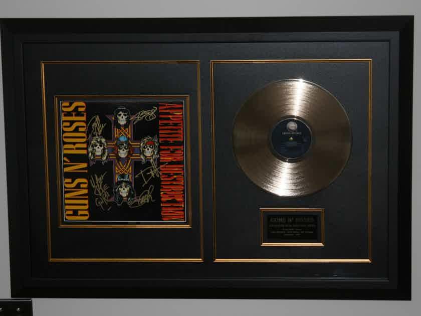 Guns N Roses Appetite for Destruction - band signed, COA, Frame