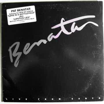 Pat Benatar - Live From Earth - Gold Stamped Promo Copy...