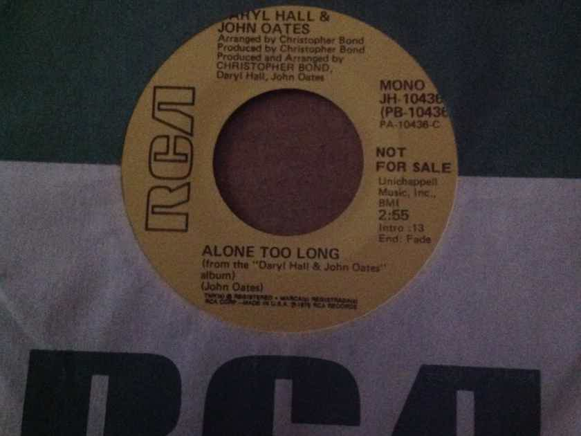 Hall & Oates - Alone Too Long RCA Records Promo Single Mono/Stereo 45 Vinyl NM