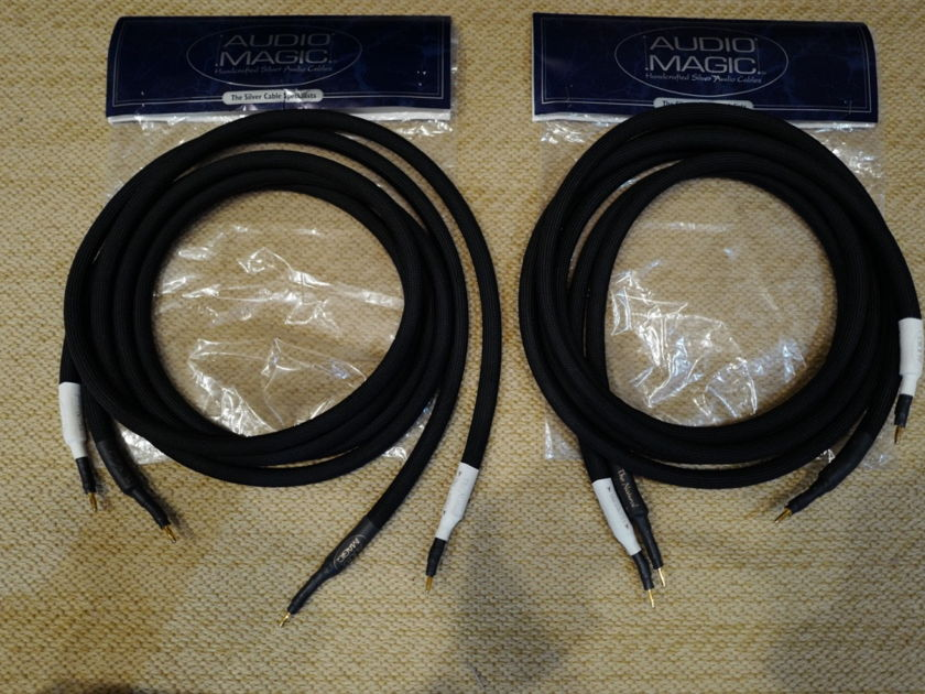 """Audio Magic Cables """"The Natural"""" 8' Speaker Cables Banana"""
