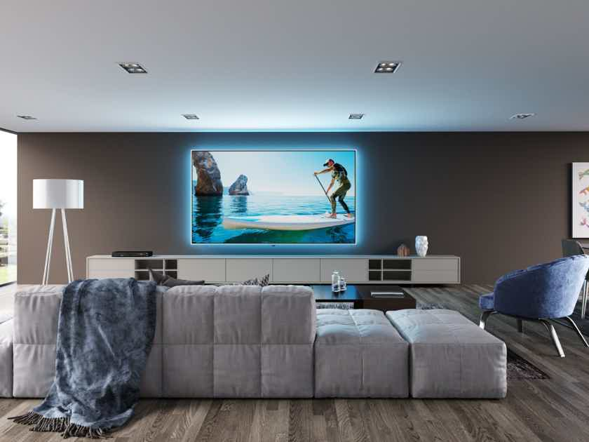 Screen Innovations ZERO EDGE PRO 139'' PROJECTOR SCREEN WITH LARGE BEZEL