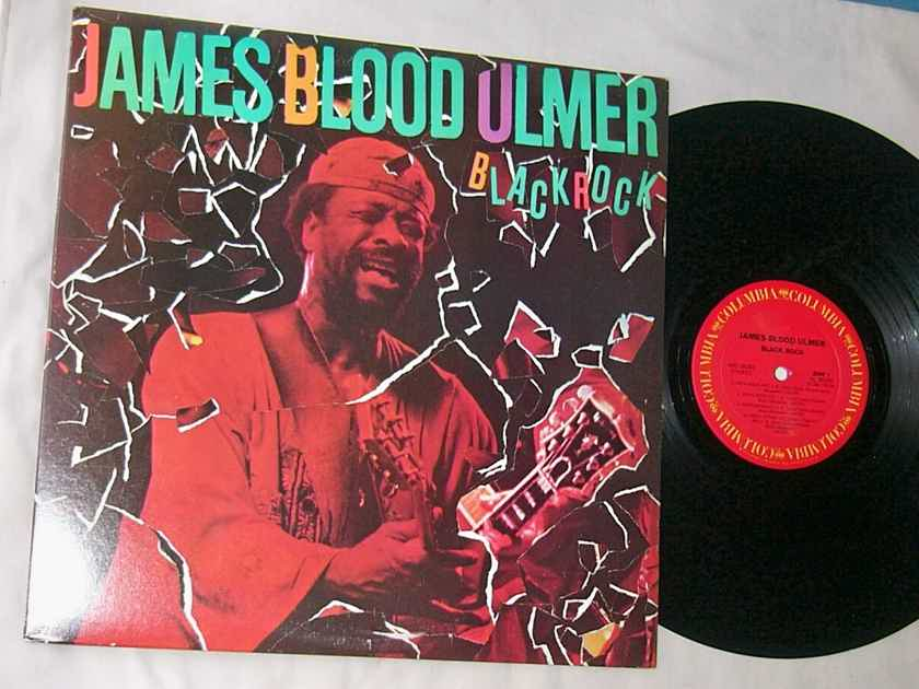 JAMES BLOOD ULMER - BLACK ROCK - - RARE ORIG 1982 BLUES ROCK LP - PROMO - COLUMBIA