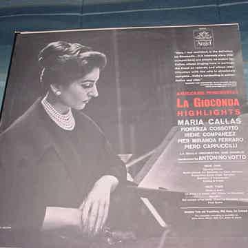 Maria Callas Amilcare Ponchielli lp record La Gioconda highlights ANGEL 35940