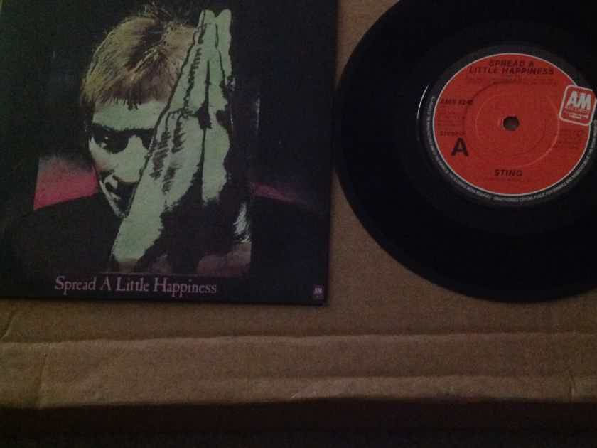 Sting - Spread A Little Happiness/Only You A & M Records U.K. 45 Single  With Picture Sleeve Vinyl NM