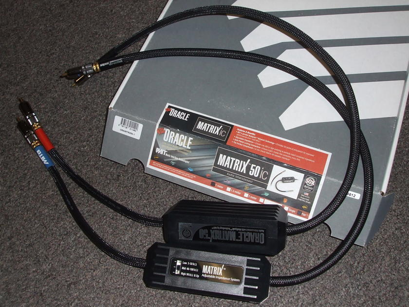 MIT Oracle Matrix 50 Interconnects, 1 meter RCA