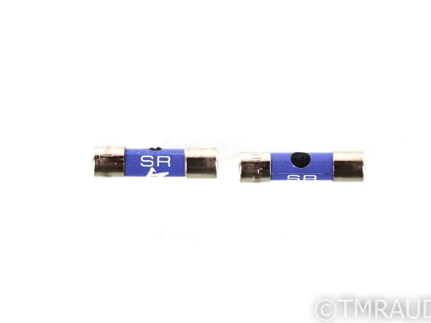 Synergistic Research SR Blue Fuse; Pair; Slow-Blow; 5x20mm; 250V; 500mA (29055)