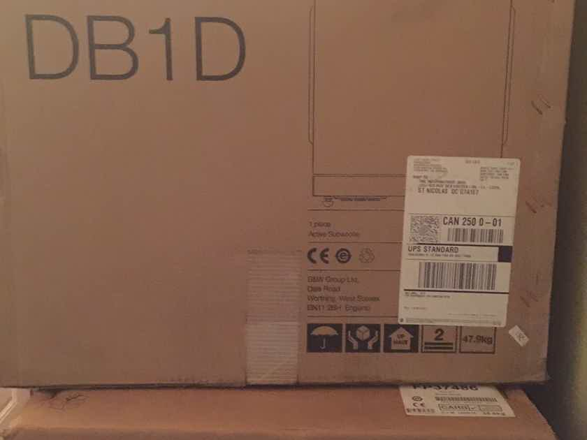 B&W (Bowers & Wilkins) 803 D3 + 804 D3 + DB1D all in Gloss Black – BRAND NEW!