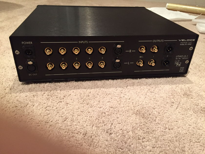 Veloce Audio LS-1 Lithio preamp Mint customer trade-in