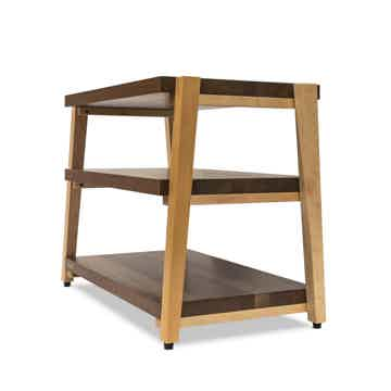 "Butcher Block Acoustics rigidrack™ 30"" X 18"" - 3 Shelf - Walnut Shelves - Maple Legs"