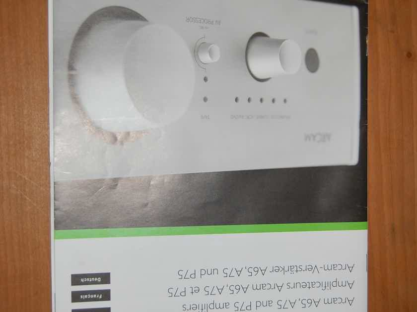 Arcam A-65+ Integrated amp in black