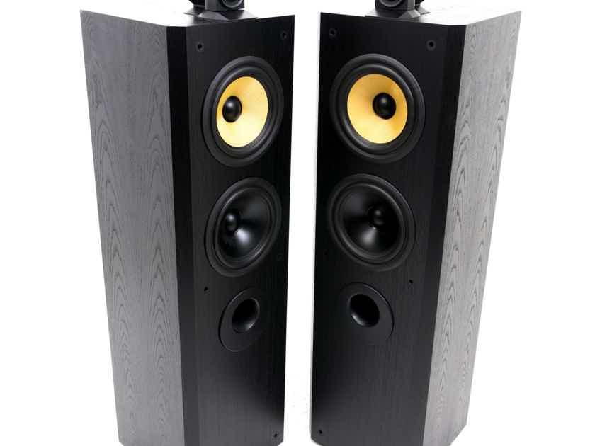 B&W Matrix 804 Floorstanding Speakers; Black Ash Pair (19241)