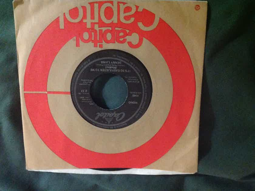 Denny  Laine - It's So Easy/Listen To Me Capitol Records Mono 45 Single Paul McCartney Vinyl  NM