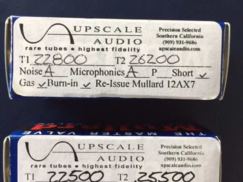 4 Re-issue tubes: (2) Mullard 12AX7, (2) Gold Lion ECC82/12AU7