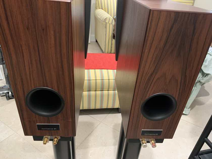 Dynaudio Confidence C1 speakers with stands