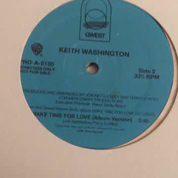 Keith Washington  Make Time For Love Qwest Records Prom...