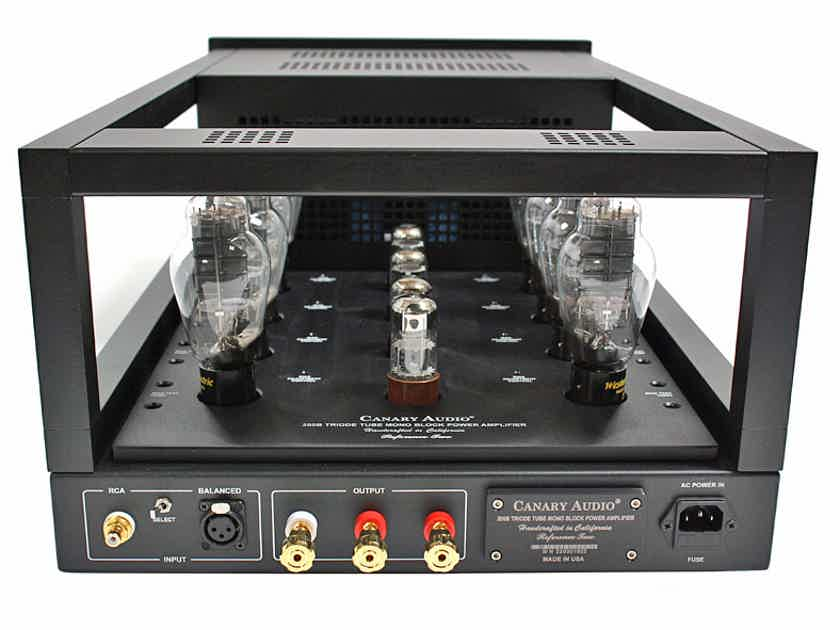 REFERENCE TWO monoblocks pure CLASS A 80 W/P/C with sixteen 300B tubes