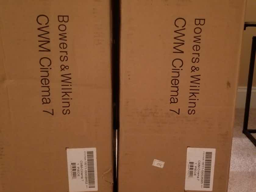B&W CWM Cinema 7 Pair,Brand New