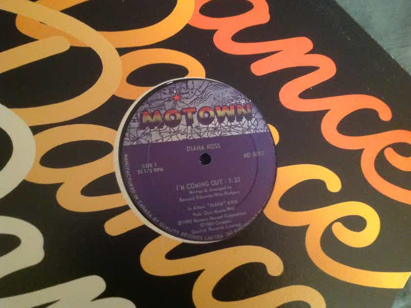 Diana Ross Upside Down/I'm Coming Out Motown Records 12 Inch Canada