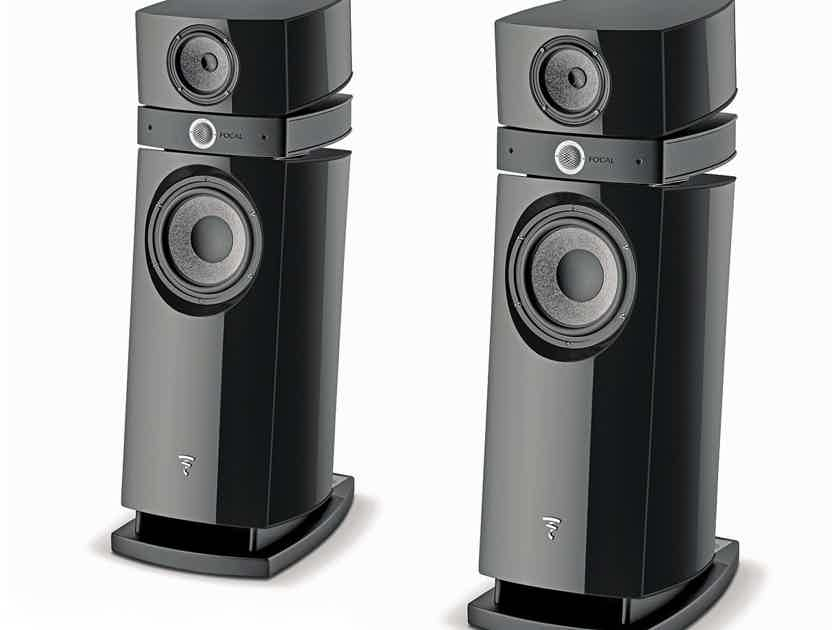 TRADES WELCOME! FOCAL SCALA UTOPIA EVO FULL-RANGE LOUDSPEAKER SYSTEM IN BLACK PIANO HIGH GLOSS LACQUER
