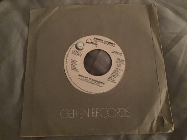 Donna Summer Double Sided Stereo Promo 45 NM