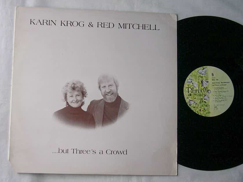 KARIN KROG & RED MITCHELL  - - BUT THERE'S A CROWD-- RARE PROMO 1977 VOCAL JAZZ ALBUM --made in SWEDEN