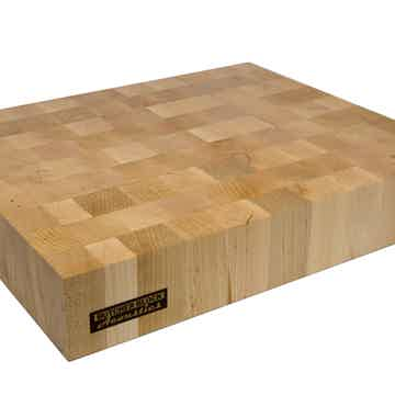 "Butcher Block Acoustics 18"" X 15"" X 3"" Maple End-Grain Platform W/ Brass Footers"