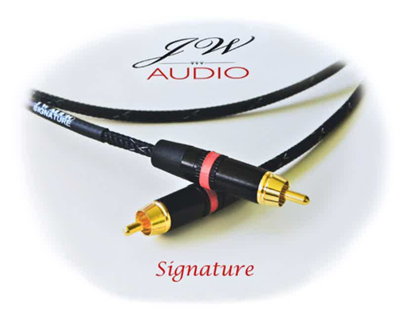 JW Audio Signature 1m-1.5m  RCA or XLR beautifully open and airy