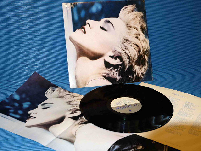"MADONNA  - ""True Blue"" - Sire Records 1986 1st Pressing w/Poster"