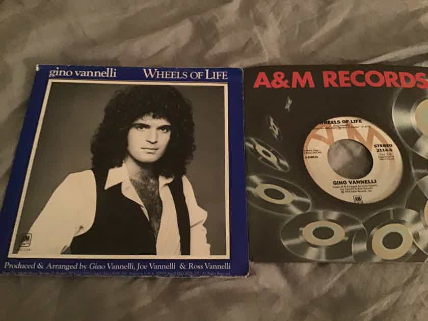 Gino Vannelli  Wheels Of Life 45 With Picture Sleeve Fold Out Poster