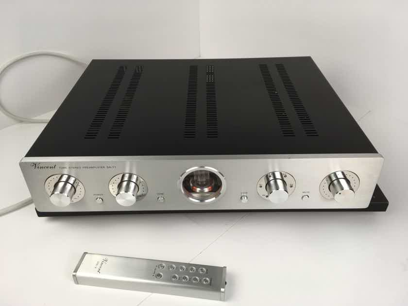 Vincent SA-T1 Tube Preamp with Remote, Gorgeous