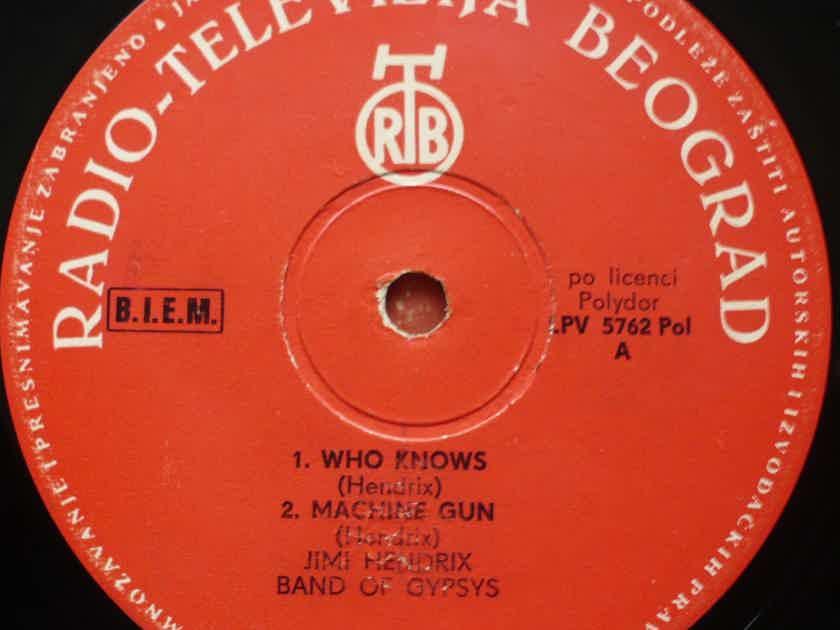 Jimi Hendrix - Band Of Gypsys 1970. RTB (Radio-Televizija Beograd), 1971. Yugoslavia.