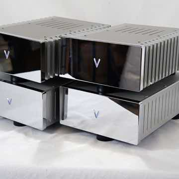 Valvet A4e Class-A mono-block - in silver with chrome fronts