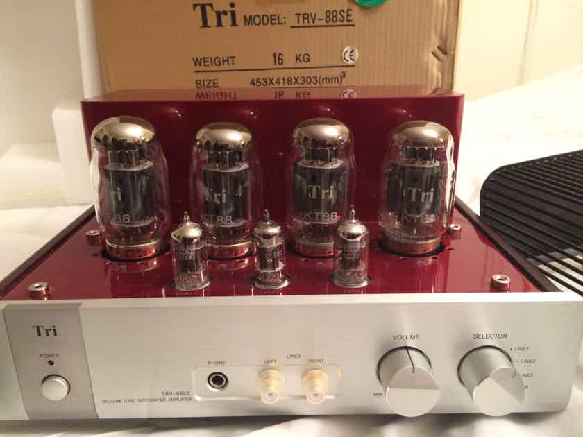 Triode Corporation TRV-88SE Beautiful Fire Engine Red tube amplifier